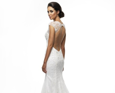 Scarlett Sheath Wedding Dress back2