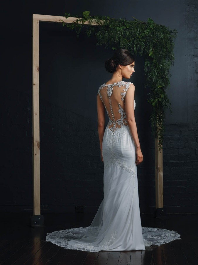 Cara Bridal Sheath Gown Gallery