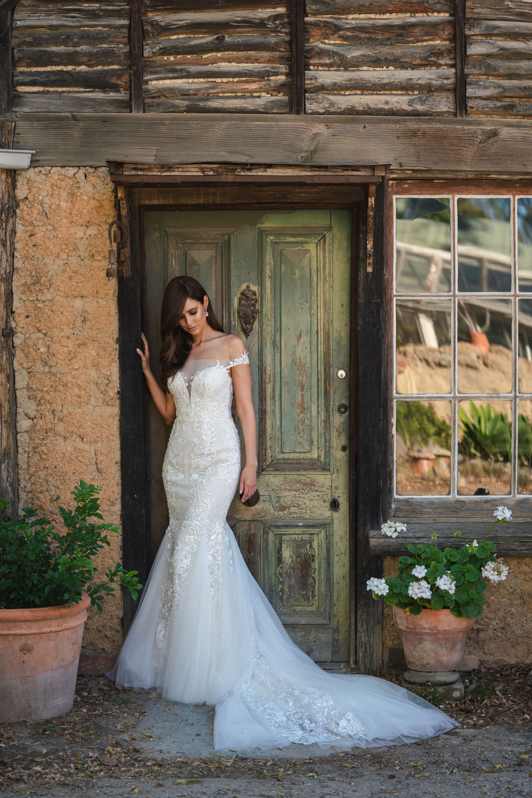 Larissa Fit and flare wedding gown